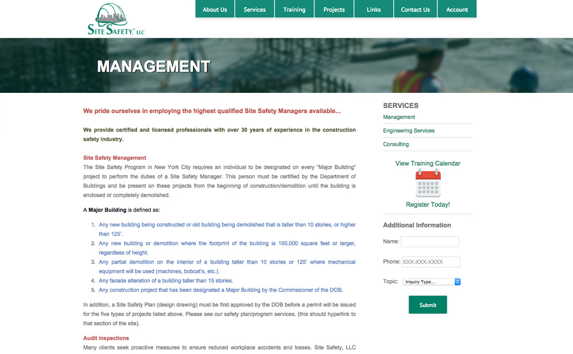 Site Safety NYC Web Design – Site Safety Plan Nyc Dob